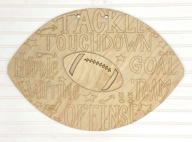 football door hanger etched