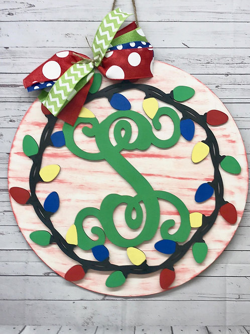 monogram light border door hanger