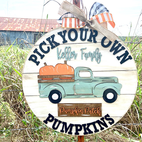Painted Pick your own pumpkin patch