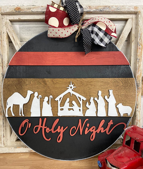 Hand made holy night doorhanger