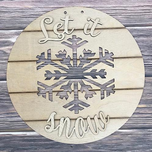 Snowflake Wooden Doorhanger Decor