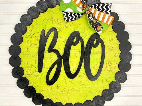 Typography Boo door hanger