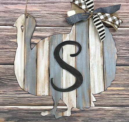 Turkey Thanksgiving Home Decor Monogram