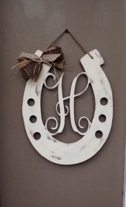 Attirant This Door Hanger Is Great For Anyone Who Loves Horses. This Makes A Nice  Wedding Gift. Itu0027s Perfect For Your Front Door. The Color Can Be Changed.