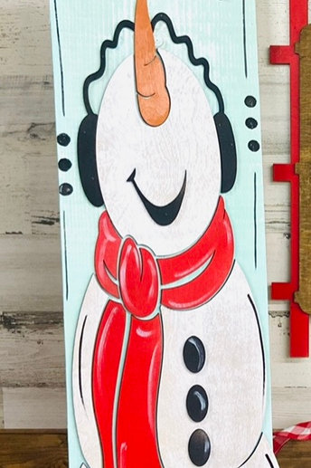 Painted Snowman Leaner