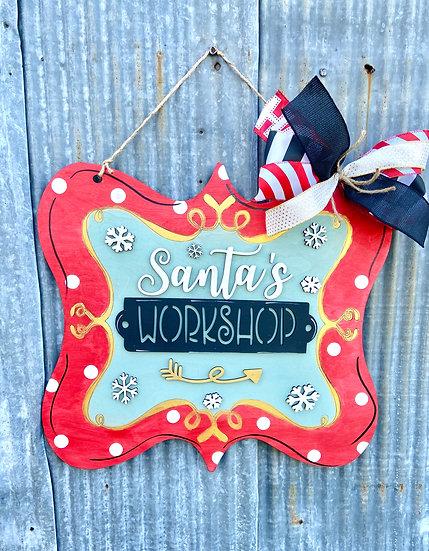 Santa's Workshop Doorhanger