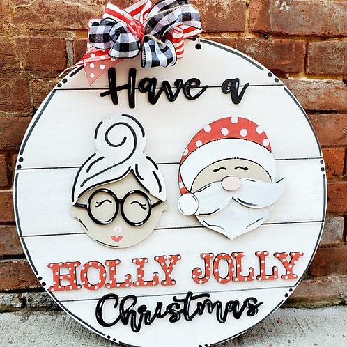 Santa Holly jolly