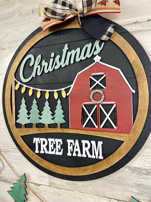 Christmas barn door hanger
