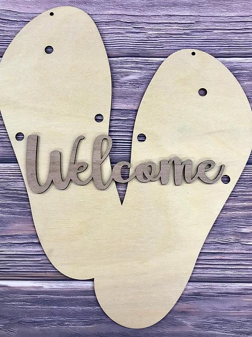 Wholesale flip flop welcome