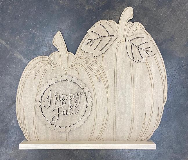 Unpainted Stand Up Pumpkin Set