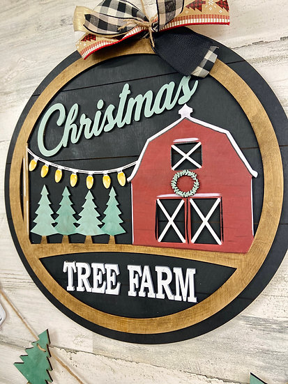 Christmas Tree Farm Doorhanger