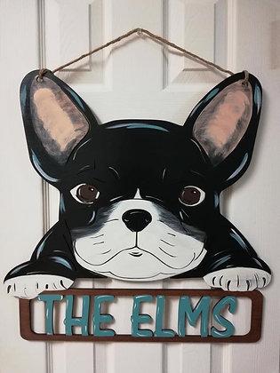 French Bulldog Home Decor Sign