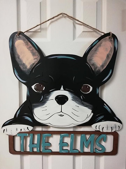 French Bulldog Home Decor Sign