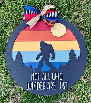 Bigfoot not all who wander