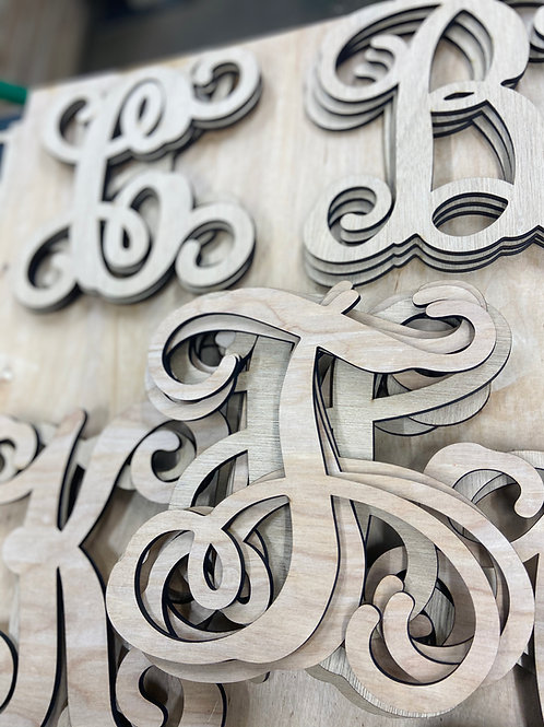 Monogram letters (select options below)