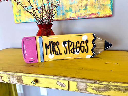 UNPAINTED pencil stand up DIY
