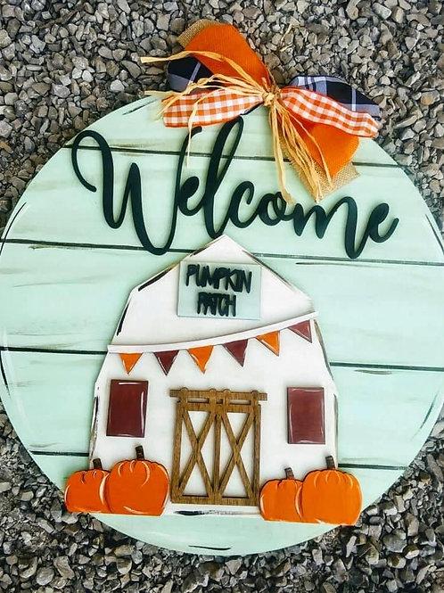 Pumpkin patch door hanger