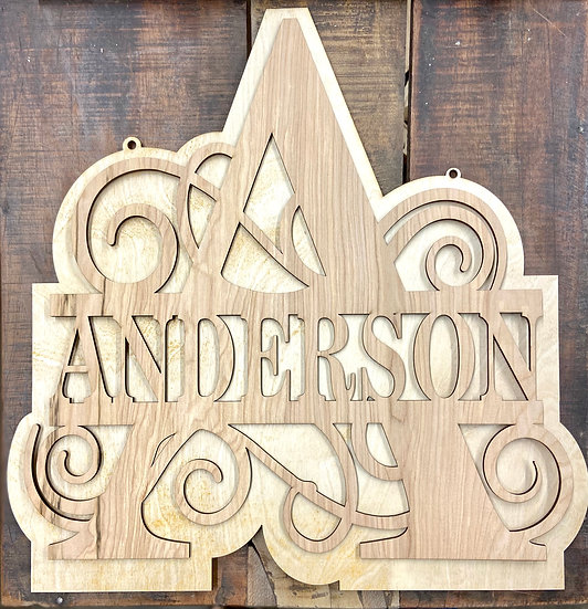 Personalized Scroll Letter Sign