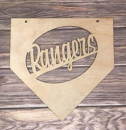 baseball home plate monogram home decor