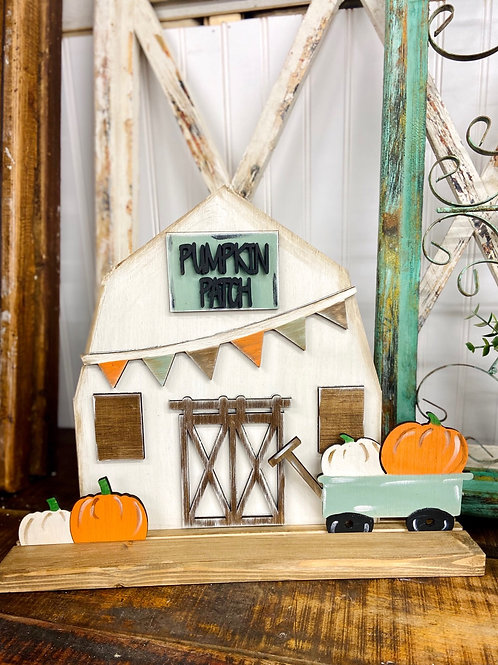 Painted Stand Up Fall Barn