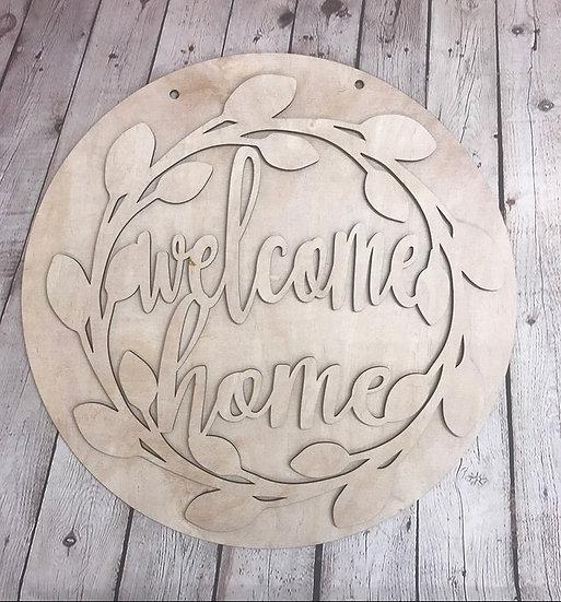 Welcome Home Vine Round