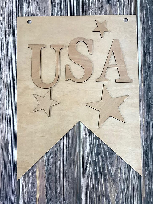 USA Banner Unfinished