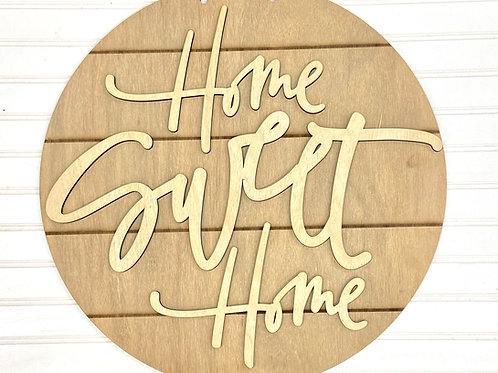 Home Sweet Home Shiplap Circle