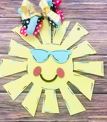 Sunshine with sunglasses