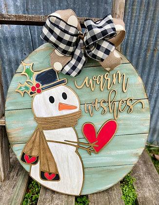 Snowman Warm Wishes