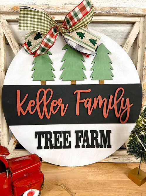 Painted Tree Farm Doorhanger