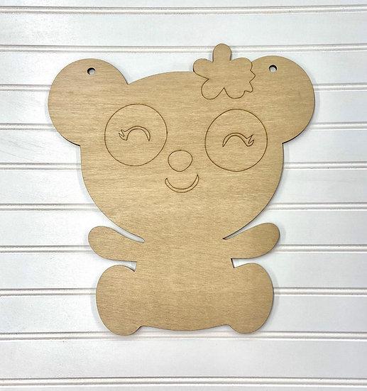 Kids Panda Room Sign Door Hanger