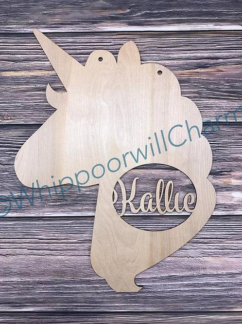 Unicorn with monogram