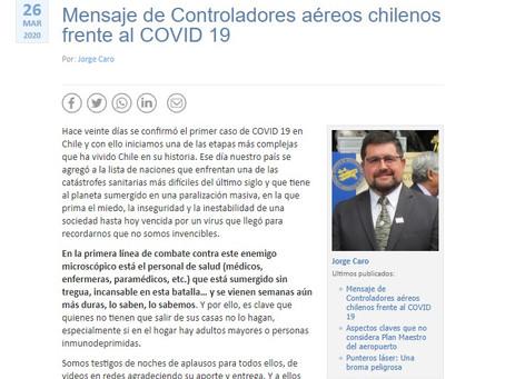 Mensaje de Controladores Aéreos de Chile frente al COVID-19