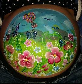 Baby Bump Painting Flower garden