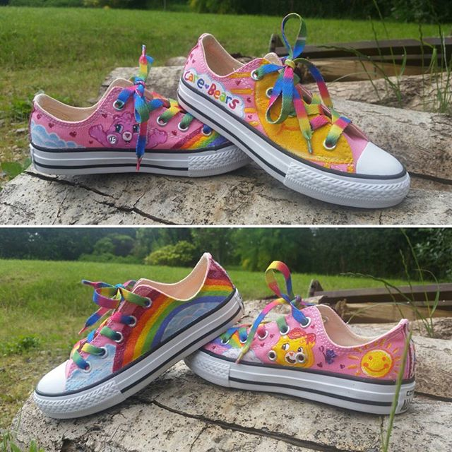 Rainbows & Care Bears converse shoes
