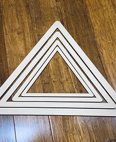 Macrame Frame ( MDF-  wood colour ) set of 4