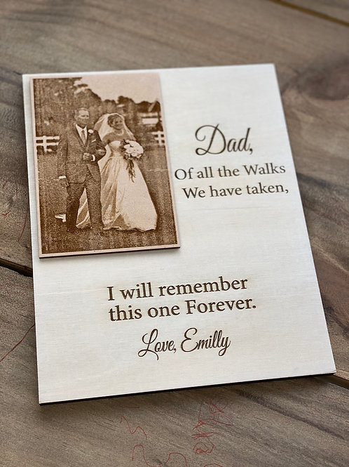 Engraved Photo- plaque