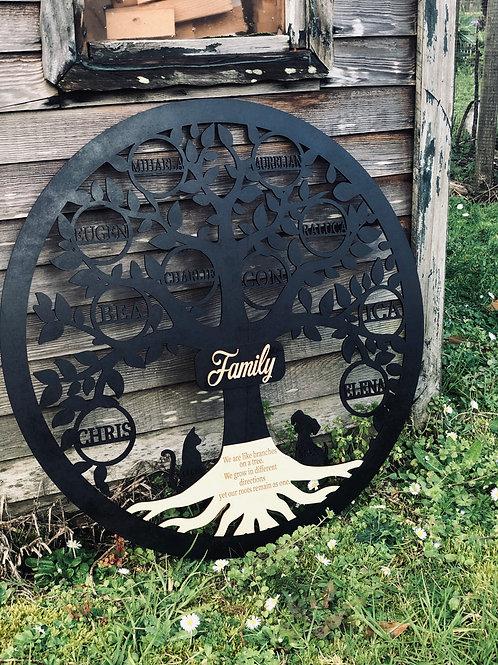 Black Custom Made FamilyTree 60cm,75cm,90cm