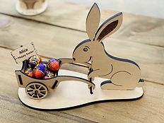 Easter Bunny with Cart - egg holder