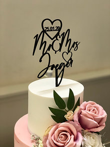 personalized Wooden Cake toppers