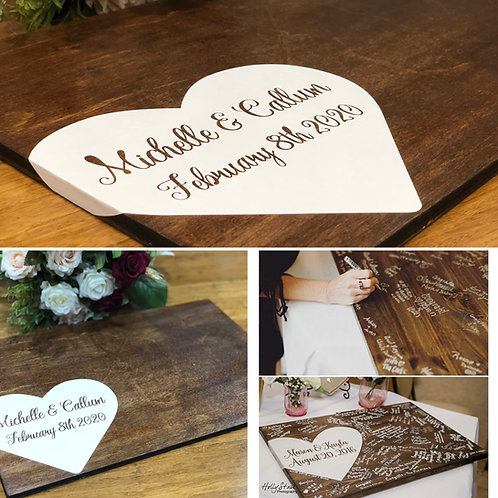 Guest Signing Board - Small, medium and Large