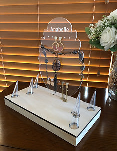 Acrylic Jewellery  holder with Ring cones