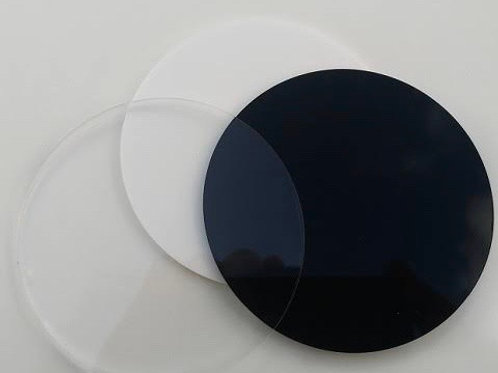 Acrylic blank cut outs - round shape