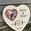 Thumbnail: Heart plaque with photo frame and personalised names