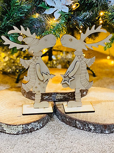 Laser cut cute reindeers
