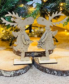 Laser cut cute reindeers