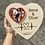 Thumbnail: Heart plaque with photo frame and personalised names (option to add stand)