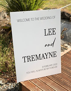 Custom acrylic white or clear Welcome signs