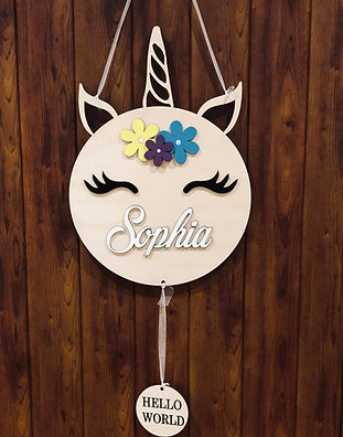 45 cm height - Unicorn Theme -Sign
