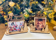 Christmas Family 3D frames - laser cut